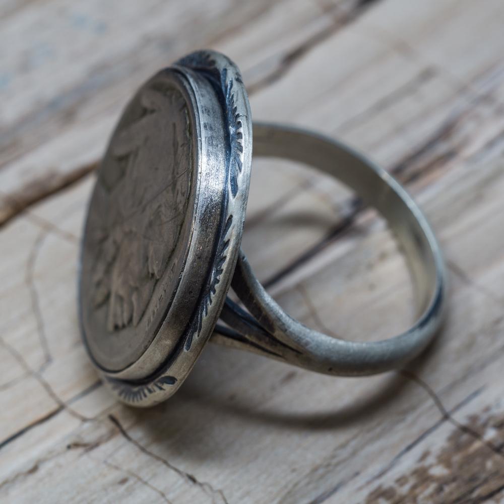 US Nickel Ring by Martha Willeto