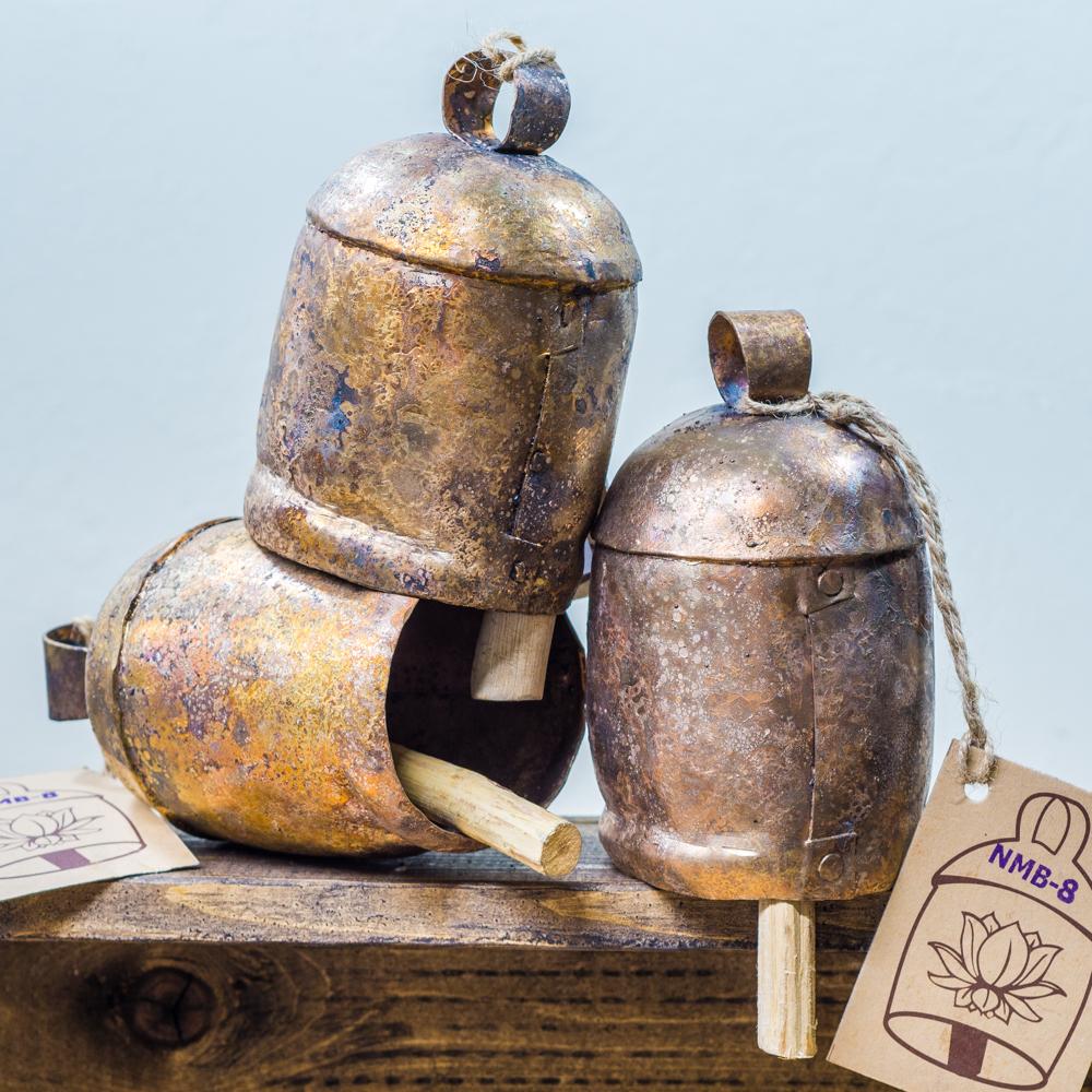 Hand Hammered Copper Bells SG200046