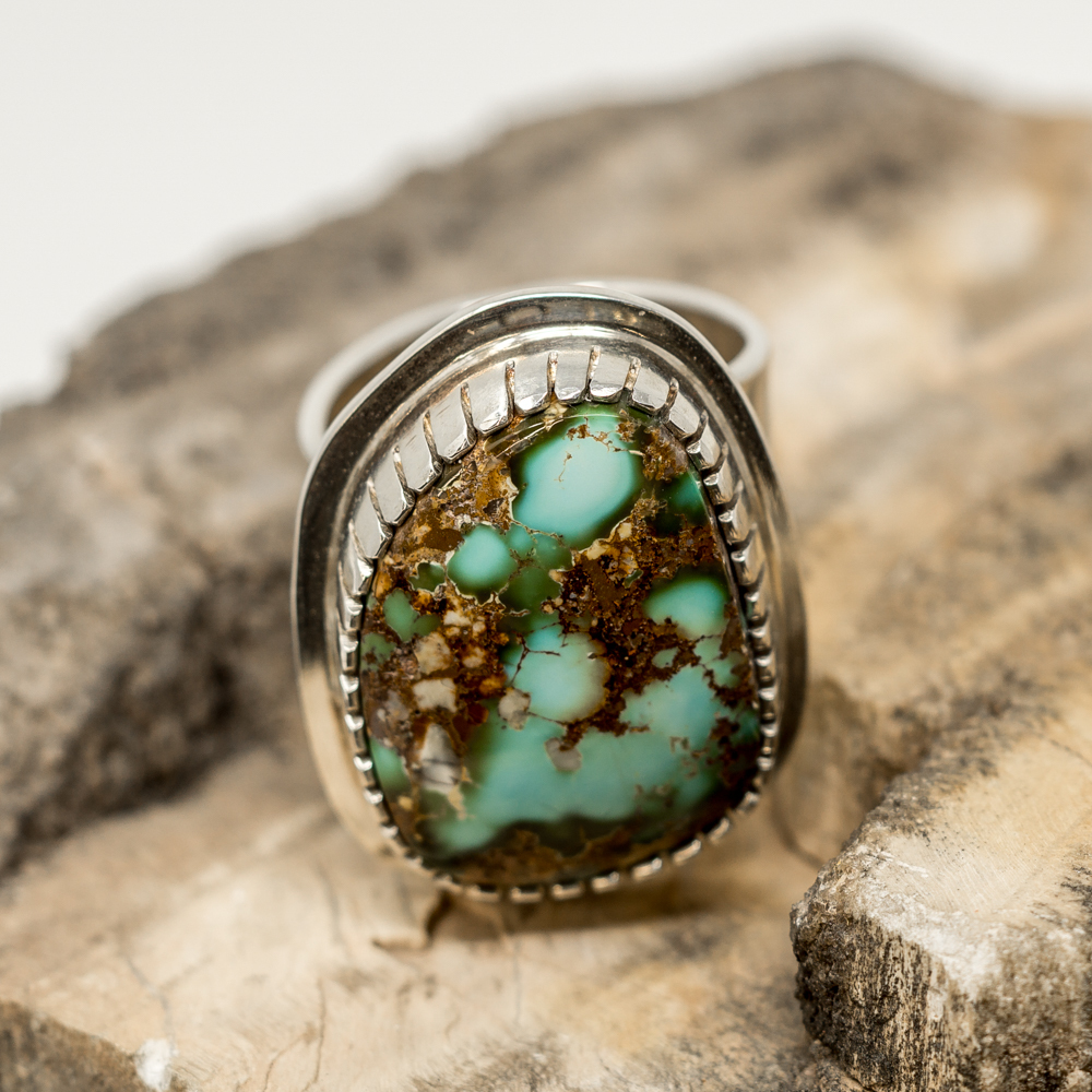 Royston Turquoise Ring by Tommy Jackson