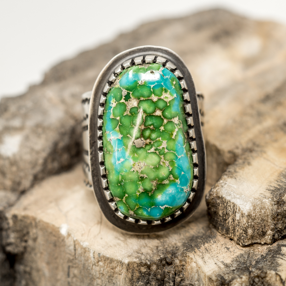 Sonoran Gold Turquoise Ring by Tommy Jackson