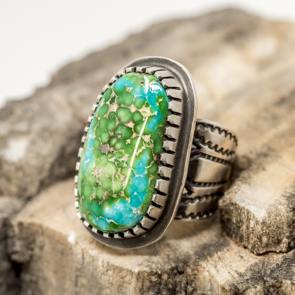 Sonoran Gold Turquoise Ring by Tommy Jackson JE200037