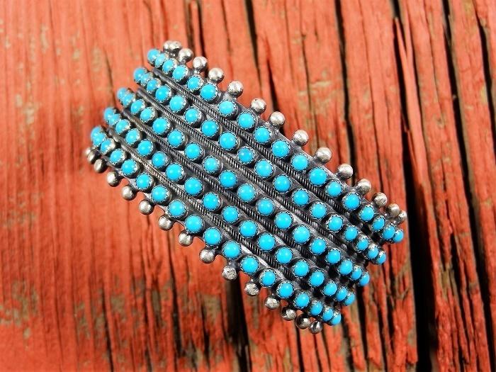 Sleeping Beauty Turquoise Petit Point Cuff Bracelet SB160016