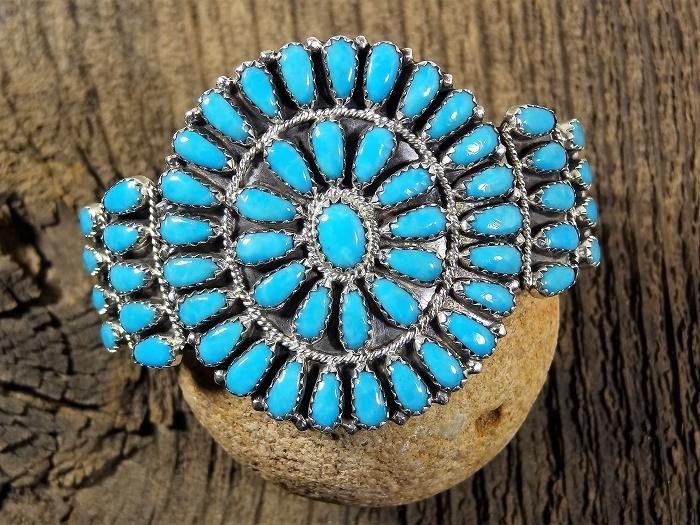 Sleeping Beauty Turquoise Teardrop Petit Point Bracelet SB160017
