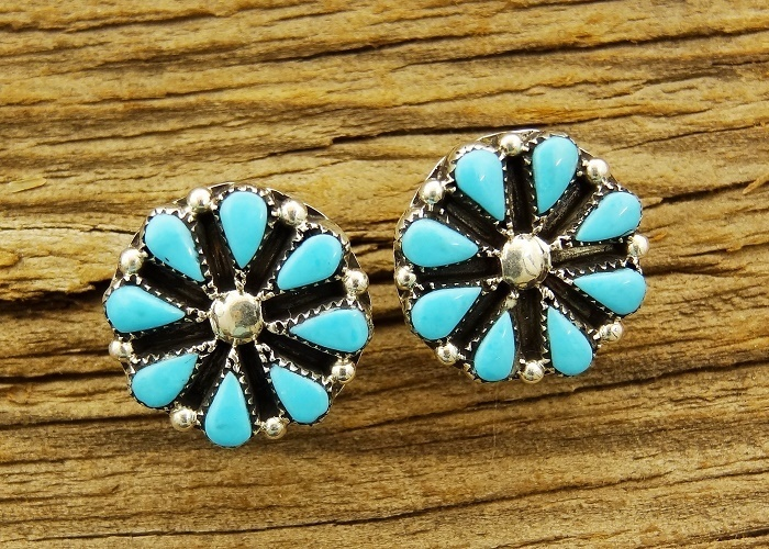 ​Sleeping Beauty Turquoise Wheeled Earrings SB160040