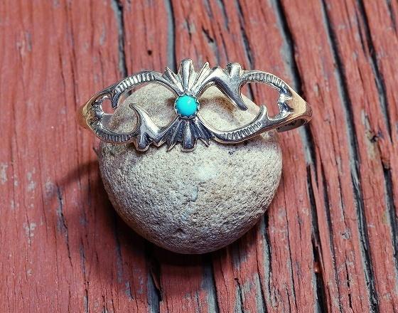 Sleeping Beauty Turquoise Lightweight Sandcast Cuff Bracelet SB160077