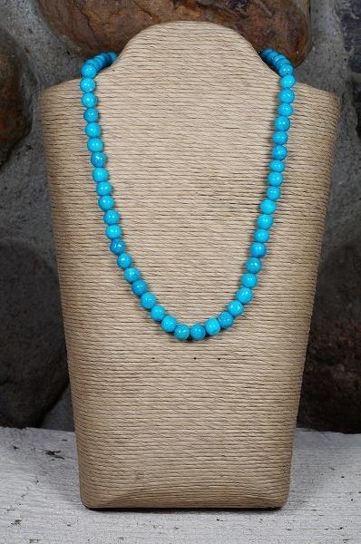 Sleeping Beauty Turquoise Beaded Necklace SB160110