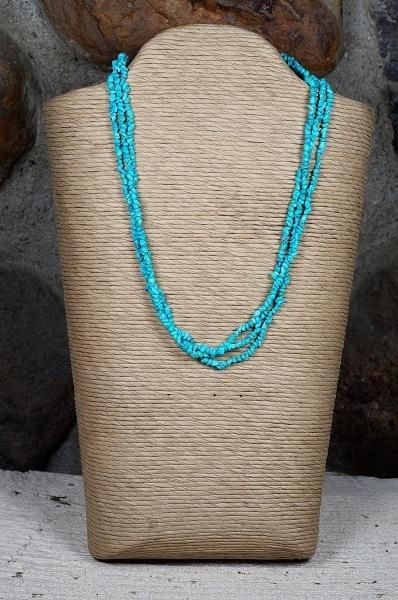 Sleeping Beauty Turquoise Pebble Necklace SB160111