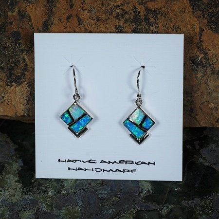 Sky and Water Opal Inlay Earrings JE160022