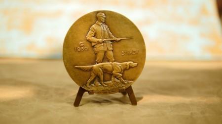 """Society of Medalists 1st Edition """"Hunter and Dog"""" AV160017"""