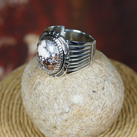 Wild Horse Stone Ring by Will Denetdale size 10.5 JE160059