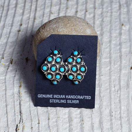 Arched Cluster Earrings with Sleeping Beauty Turquoise SB160248