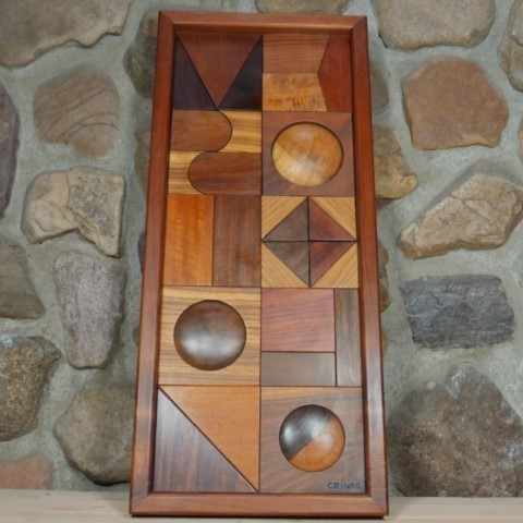 Vintage Geometric Criner Wooden Wall Art AV160058
