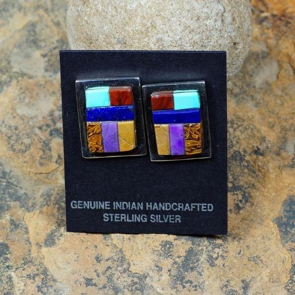 Sterling Silver Multi-Stone Earrings by Tommy Jackson JE160122