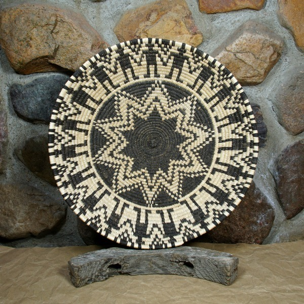 Devil's Claw and Cottonwood 'Friendship' Design Plaque by Apache Artist Lillian Rasmussen GA160005