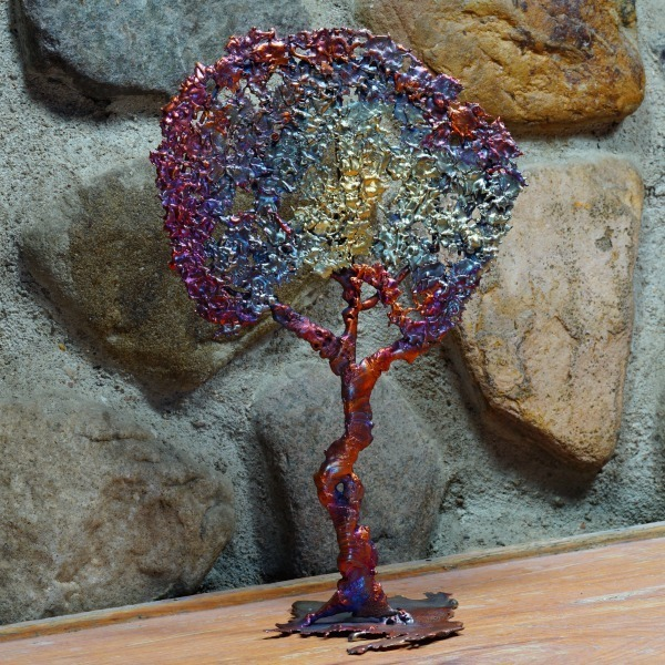 COPPER SPLASH STANDING TREE CM170002