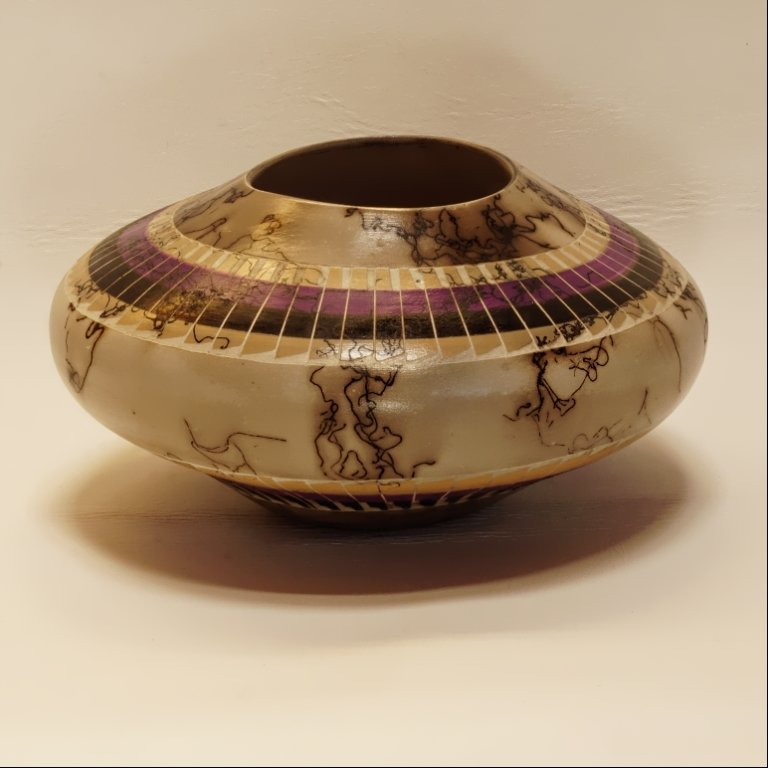 Navajo Horse Hair Pottery by Ernest John GA170050