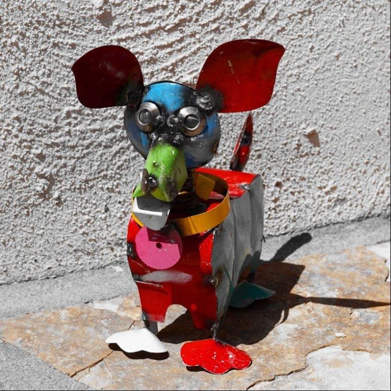 Rustic Yard Art - Small Dog RY170004