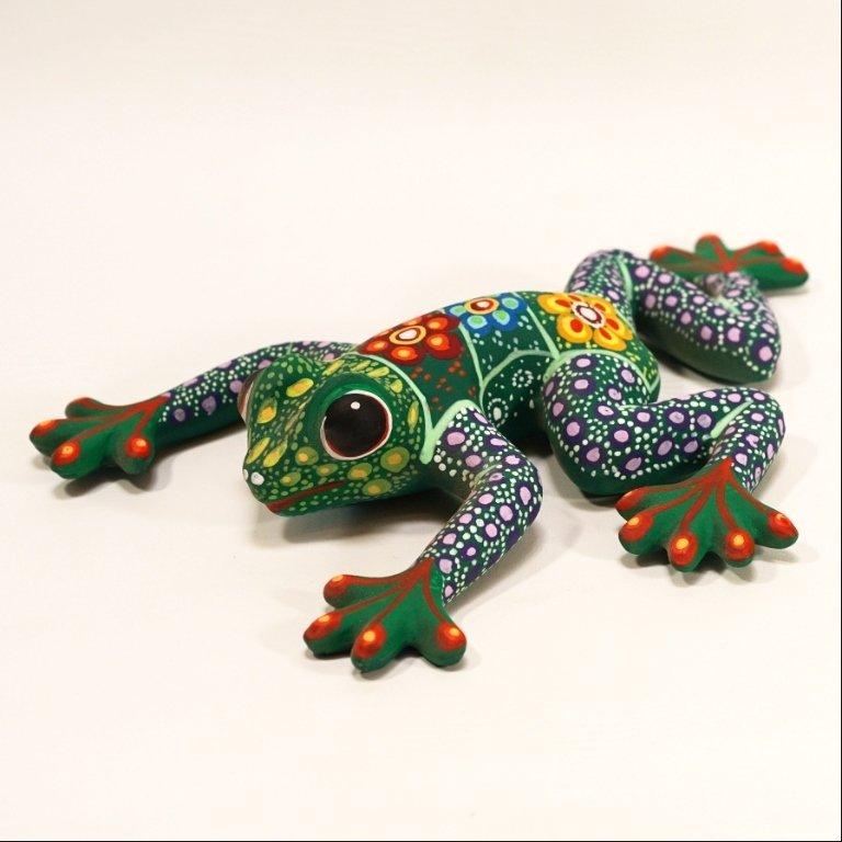 Ceramic Clay Guerrero Green/Purple Frog SO170036
