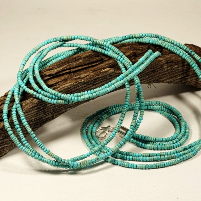 3 Strand Turquoise Necklace JE170104