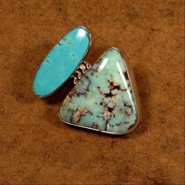2 Stone Turquoise Pendant JE170117