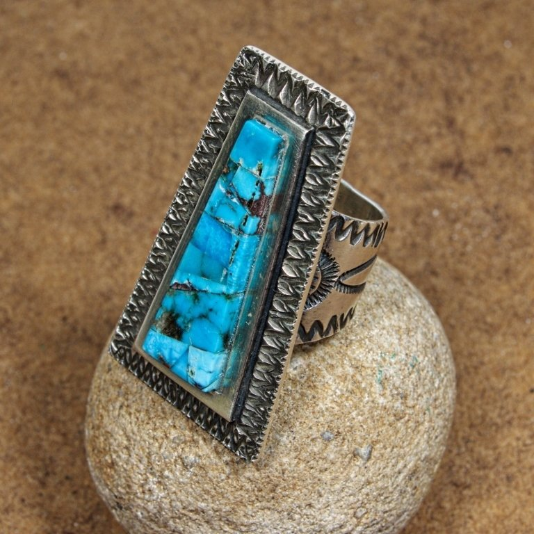 Tommy Jackson Bisbee Turquoise Ring JE170177