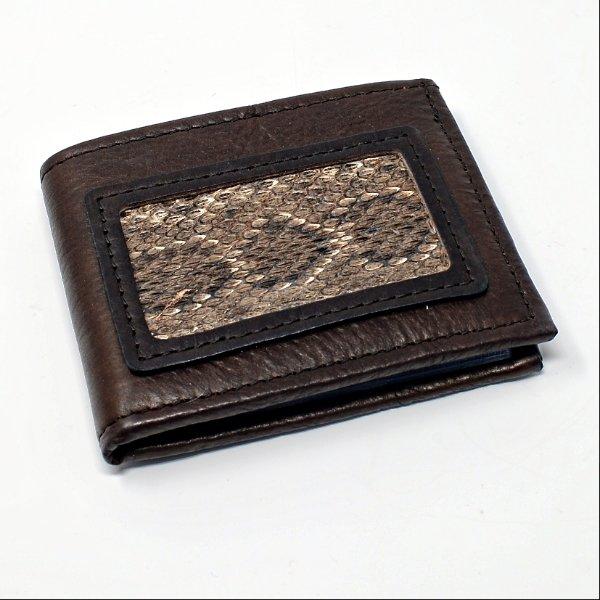 Buffalo Billfold Company Rattlesnake Bi-Fold Wallet SG170136