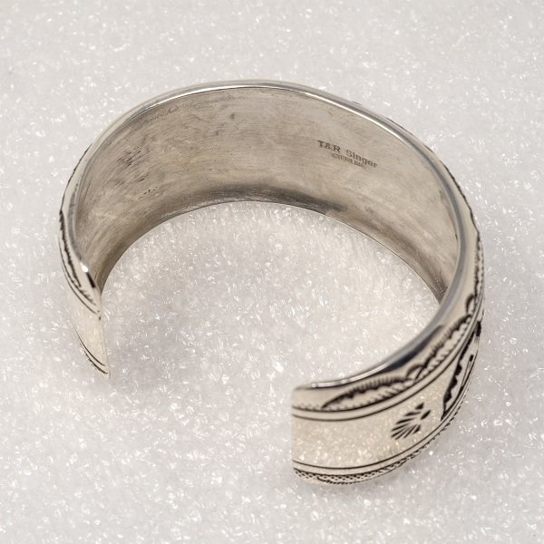 Sterling Silver Navajo Rug Pattern Bracelet by Rosita Singer