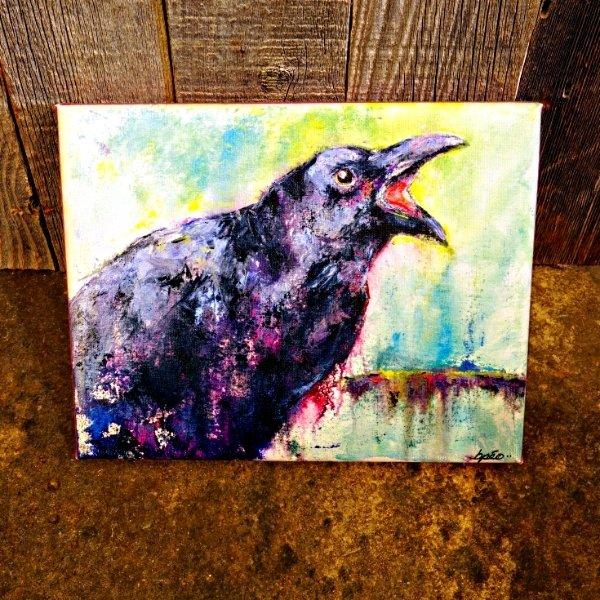 "Brenda Peo Artwork ""Edgar Allen Crow"" SG170156"
