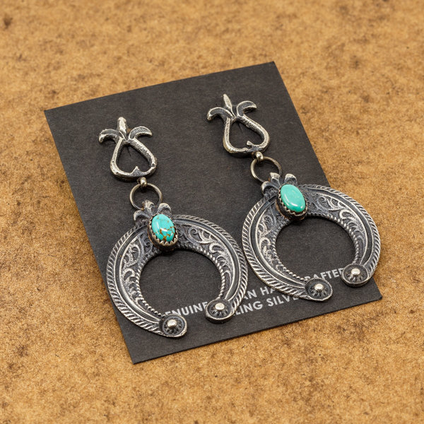 Eva & Lindberg Billah Naja Turquoise Earrings JE170262