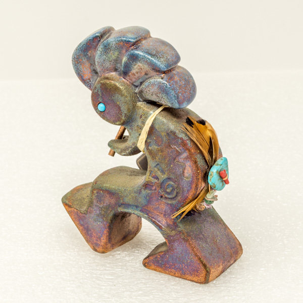 Raku Figurines-Kokopelli SV180006