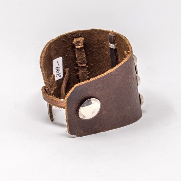Leather Cuff with Turquoise