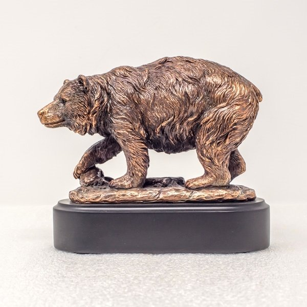 Copper Plated Bear Statue SO180017