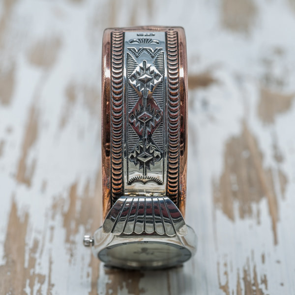 Men's Copper & Silver Watch by Randy Secatero