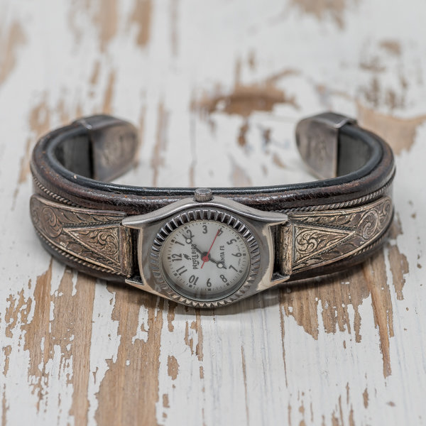 Leather & Silver Watch