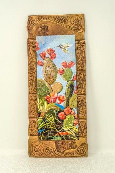 "Kenarova Canvas on Clay ""Desert Hummingbird"" Large SG180006"