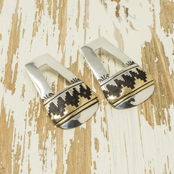 Silver Cutout Post Earrings by T&R Singer JE180035
