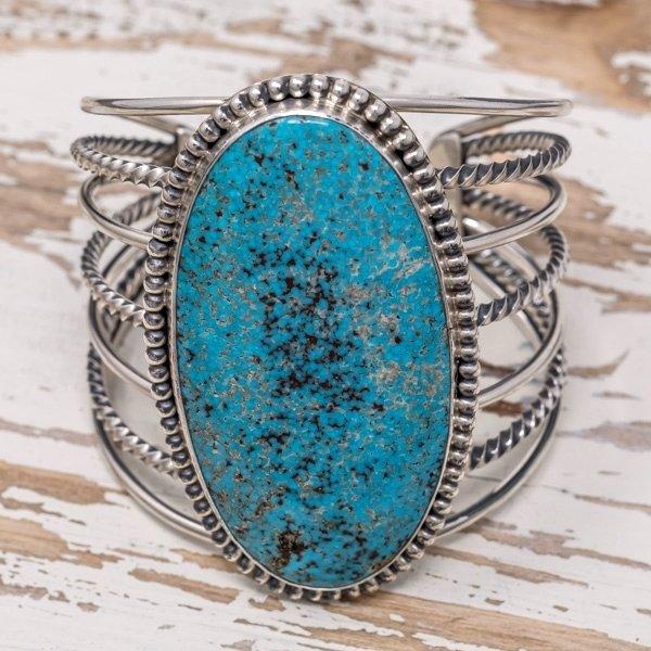E.M. Teller Kingman Turquoise Bracelet