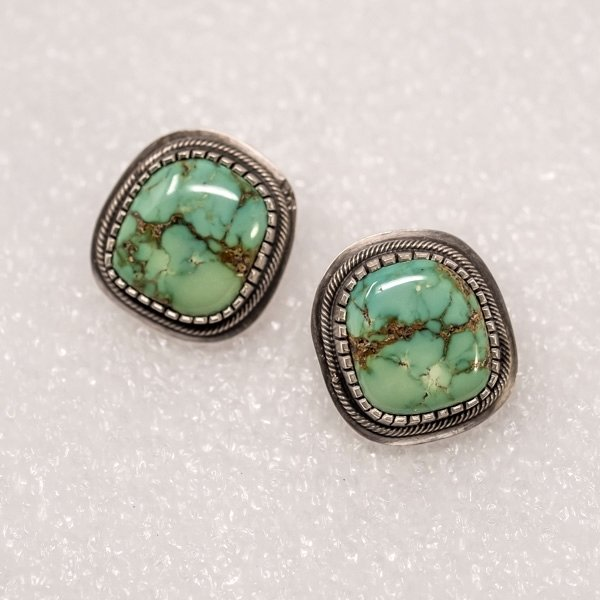 Royston Turquoise Earrings by Tommy Jackson