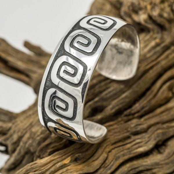 Anderson Koinva Sterling Silver Bracelet - Whirlwind Design JE180112
