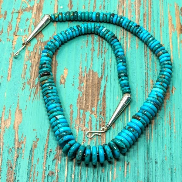 Priscilla Nieto Turquoise Disc Necklace JE180120