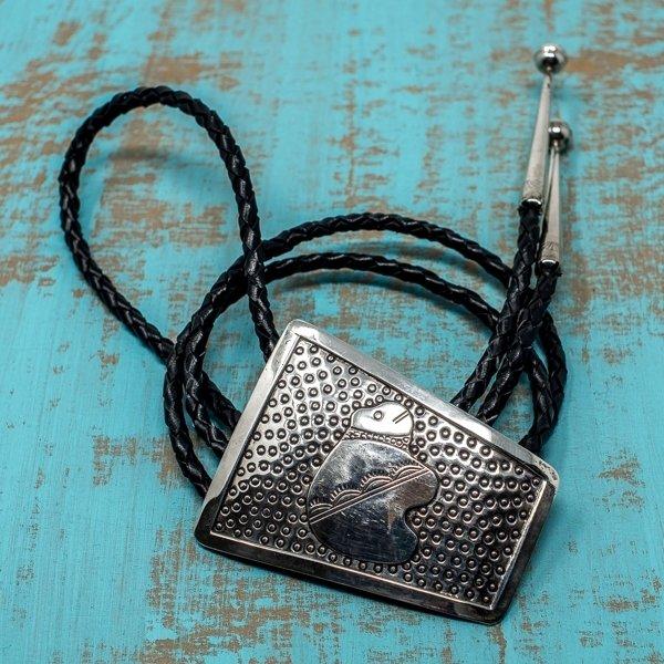Bolo Tie - Vintage Sterling Silver Bear Design JE180160