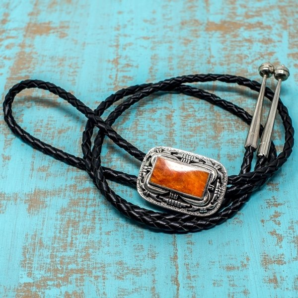 Bolo Tie - Sterling Silver with Spiny Oyster Shell JE180166