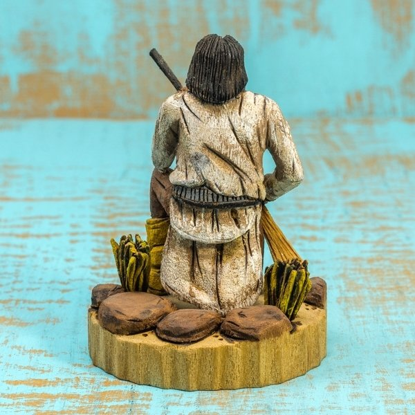 Delbert Upshaw Carving - Geronimo - Back View
