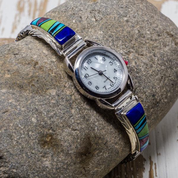 Multi-stone Watch by Celina Yazzie JE180185