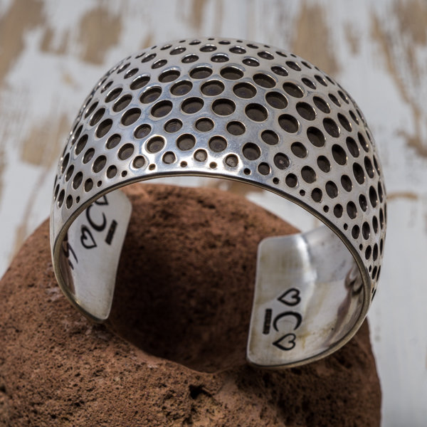 Sterling Silver Overlay Bracelet - Top View