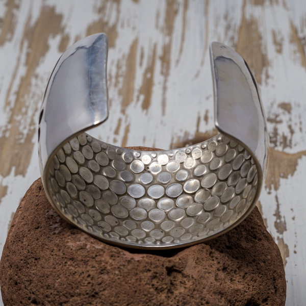 Sterling Silver Overlay Bracelet - Inside View