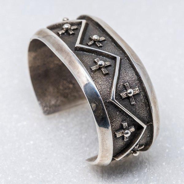 Sterling Silver Cross Cuff Bracelet by Aaron Anderson JE180210