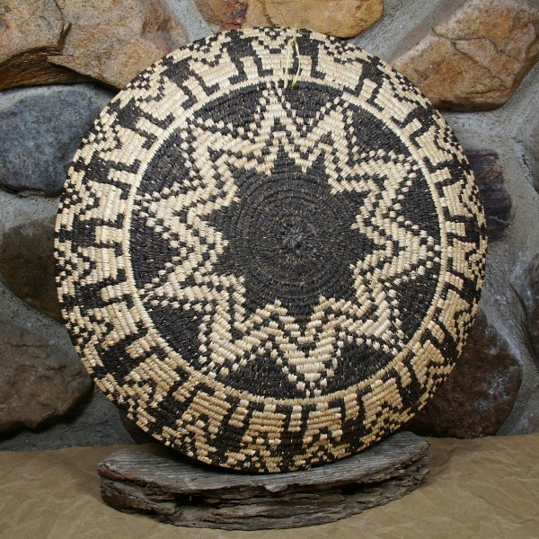 Devil's Claw and Cottonwood 'Friendship' Design Plaque by Apache Artist Lillian Rasmussen