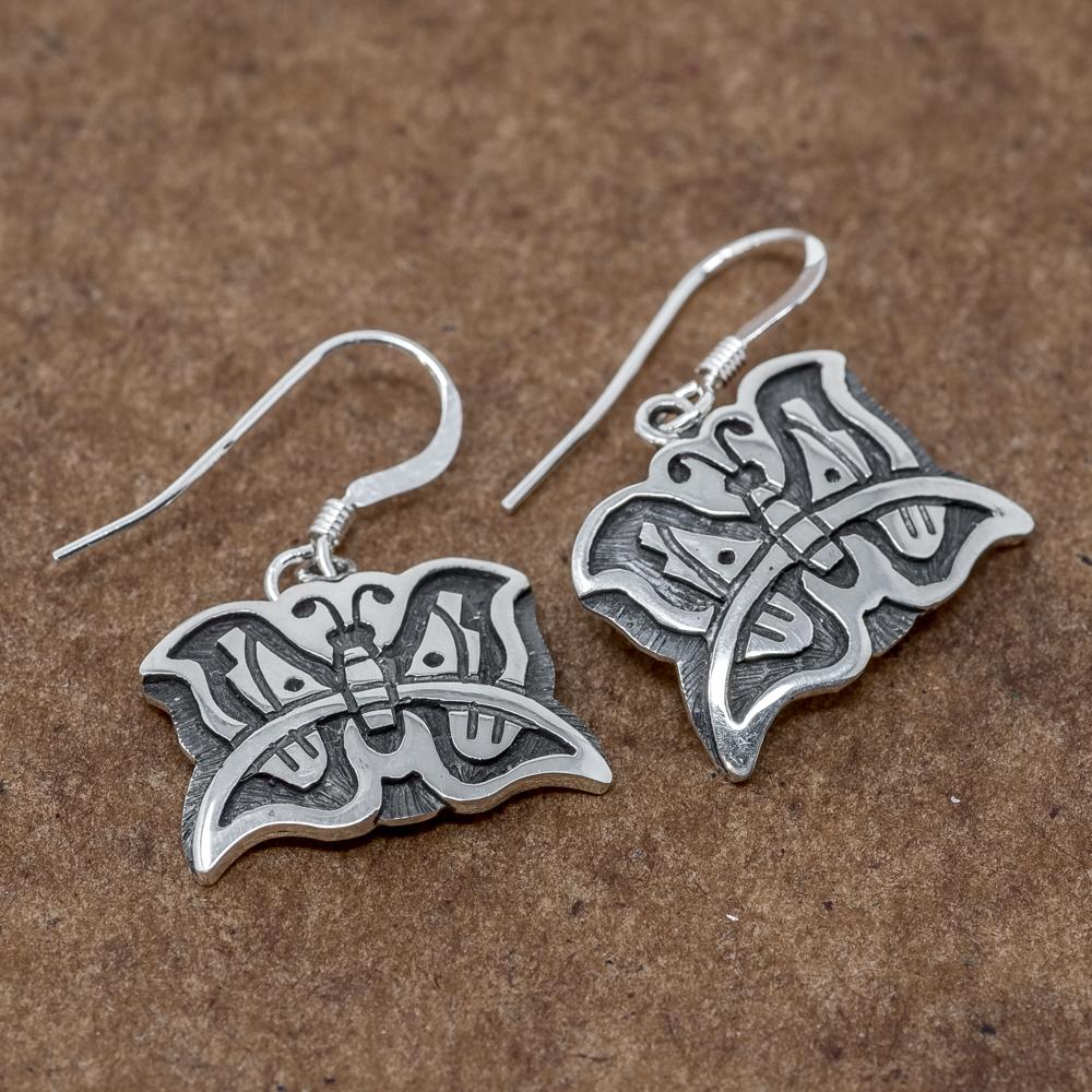 Sterling Silver Butterfly Earrings by Kevin Takala JE190002