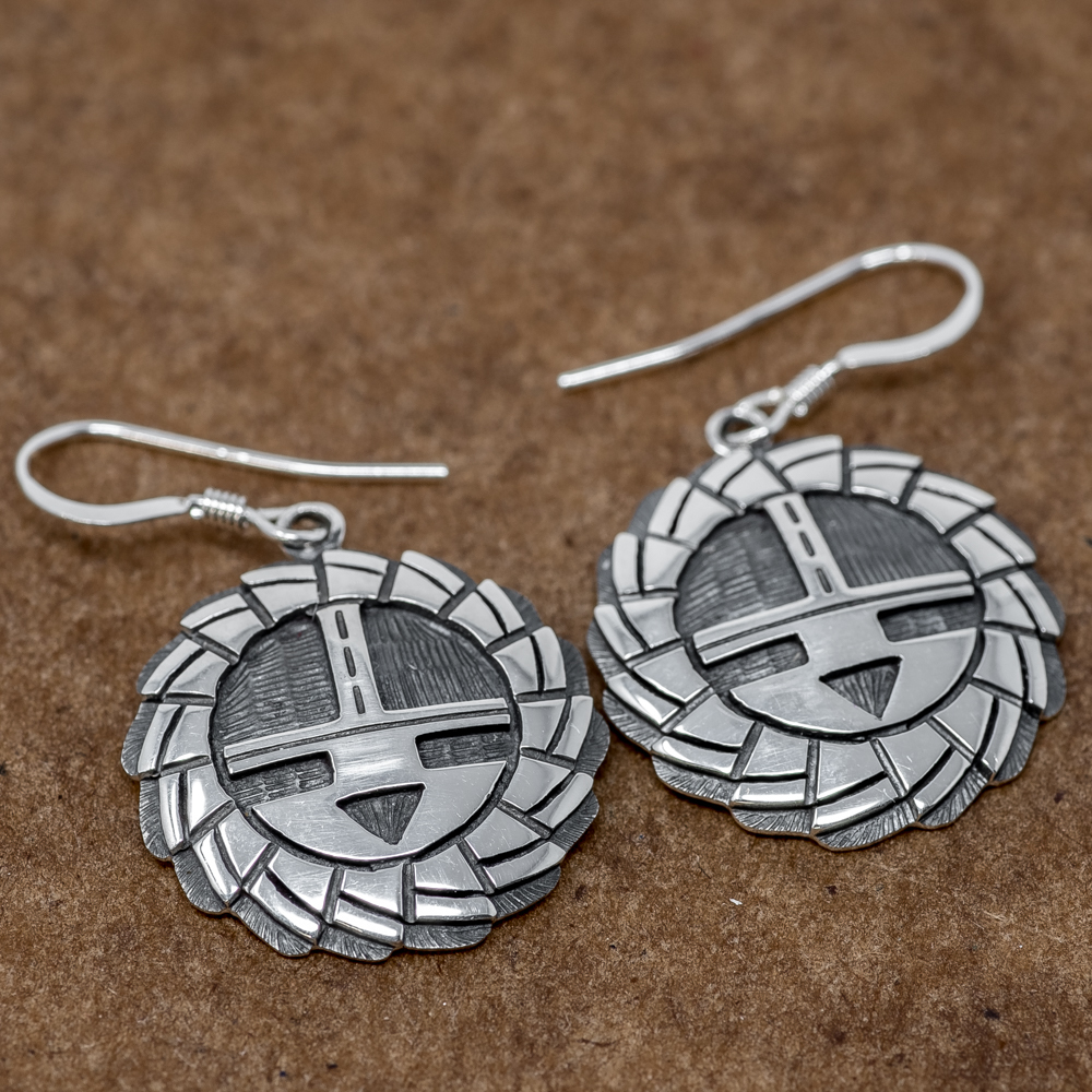 Hopi Sunface Earrings by Kevin Takala JE190003